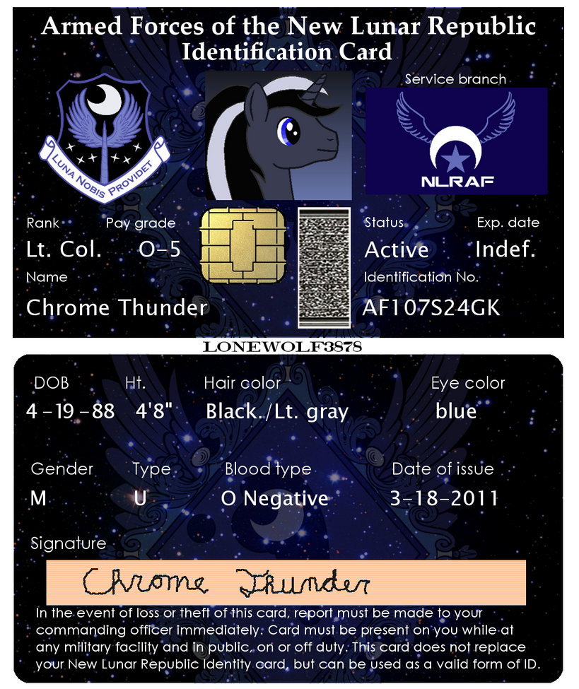 my oc s nlr military id card by lonewolf3878 on deviantart