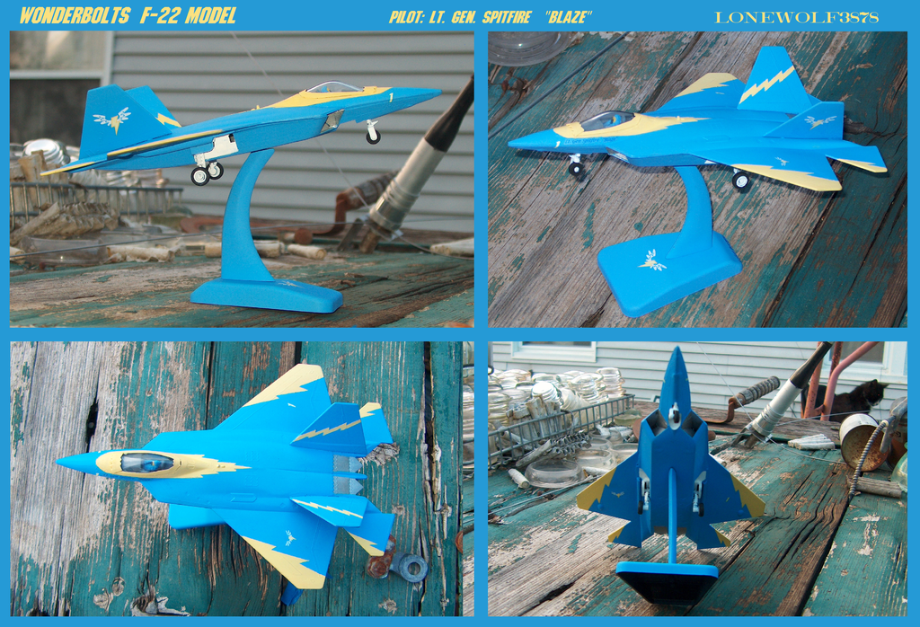Wonderbolts F22 model (sold) by lonewolf3878