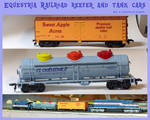 Equestria Railroad Reefer and Tank Cars - HO scale