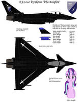 EF-2000 Typhoon: The Knights Mercenary Squadron by lonewolf3878