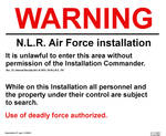 NLR AIr Force warning sign