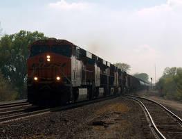 BNSF Freight Train by lonewolf3878