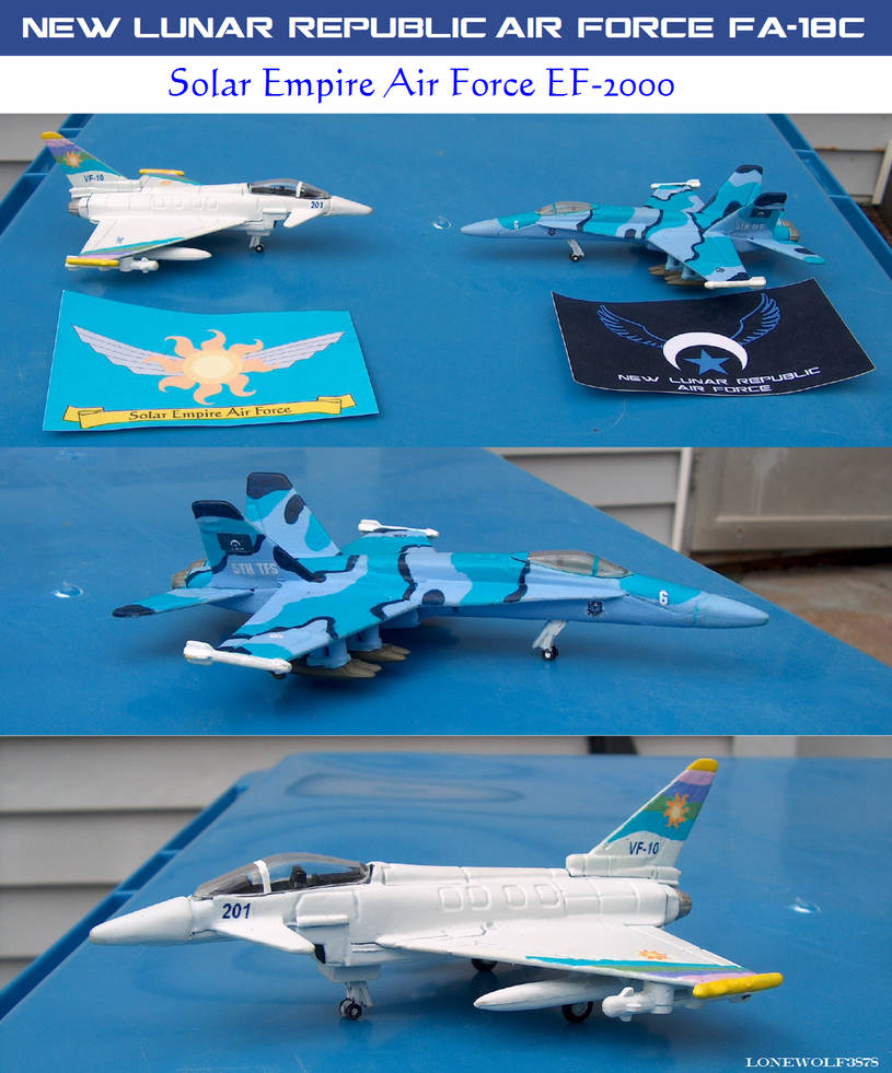 NLRAF Hornet and SEAF Typhoon Diecast Planes by lonewolf3878