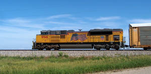 Railfan Trip 6-3-16: Flying  the Flag by lonewolf3878