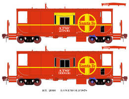 Santa Fe CA-11 Caboose Drawing by lonewolf3878