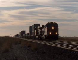 Railfan Trip: 10-16-16: Into the Sun by lonewolf3878