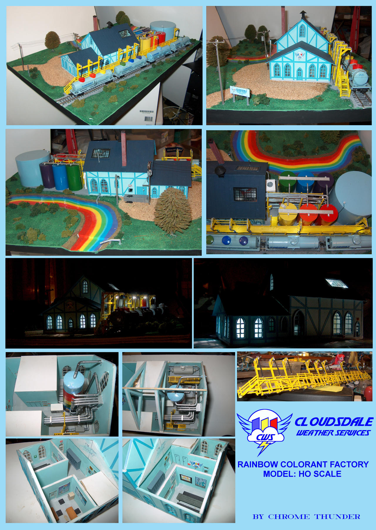 Rainbow Colorant Factory Model: HO Scale