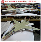 VF-1 Wolfpack F-14A Model: 1:72 scale