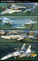 Ace Combat Aircraft Models: 1:72 Scale by lonewolf3878