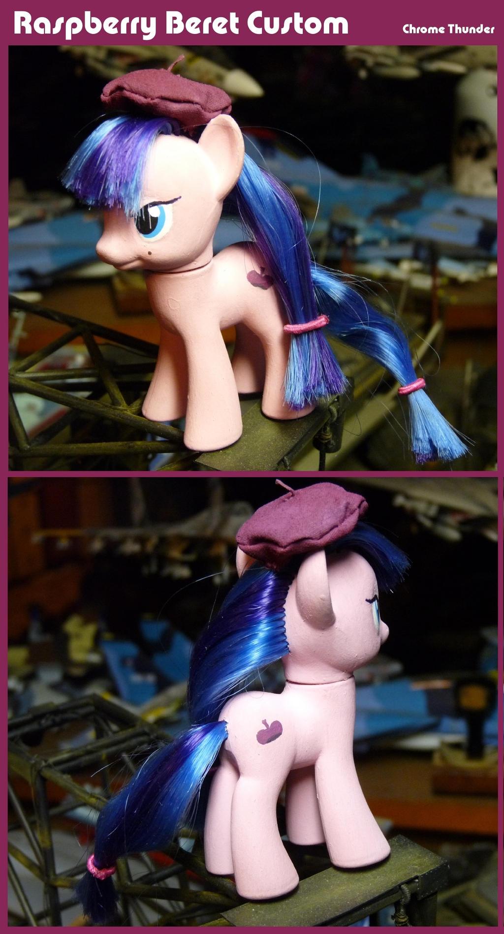 Raspberry Beret Pony Custom
