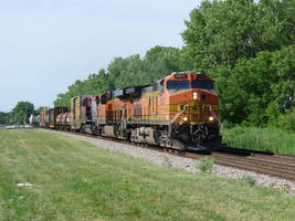 Railfan Trip: 6-28-18: More Red and Orange by lonewolf3878