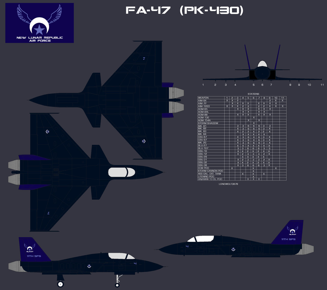 NLR Air Force PK-430 Fighter (updated) by lonewolf3878