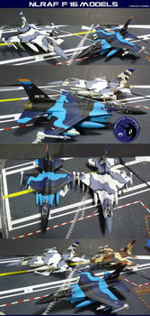 NLR Air Force F-16 Models - 1:72 Scale