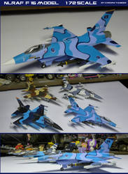 NLR Air Force F-16 Model: 1:72 scale
