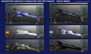 Equestria Aircraft Skins for Vector Thrust: MiG-21