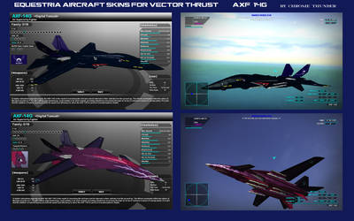 Equestria Aircraft Skins for Vector Thrust AXF-14G