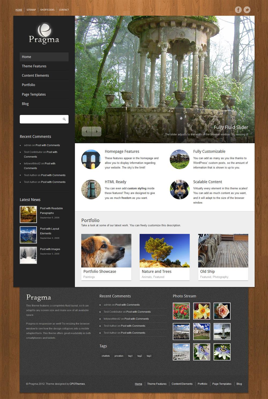 Pragma Theme for WordPress by cpothemes