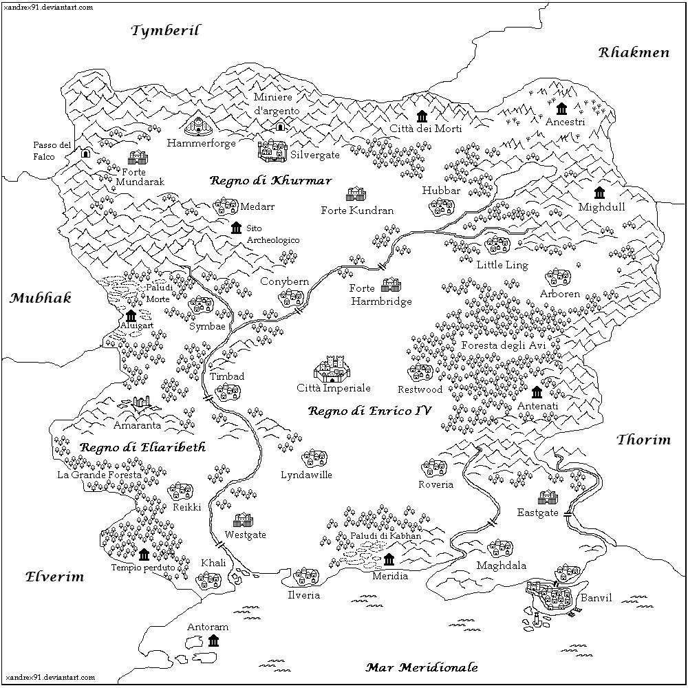 Avalorn - Mappa della regione by Xandrex91