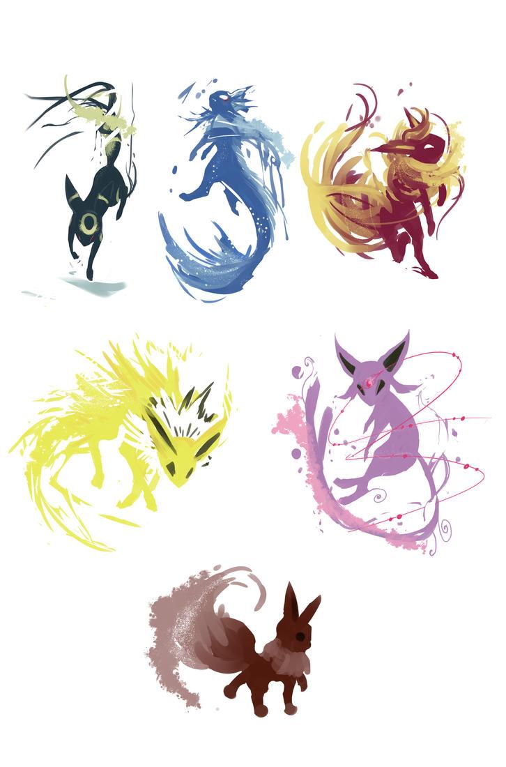 Eevee Evolutions By Redsheis ...
