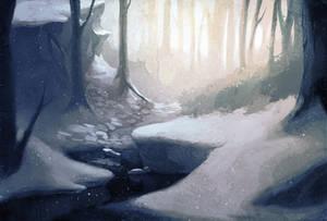 Forest fulla snow