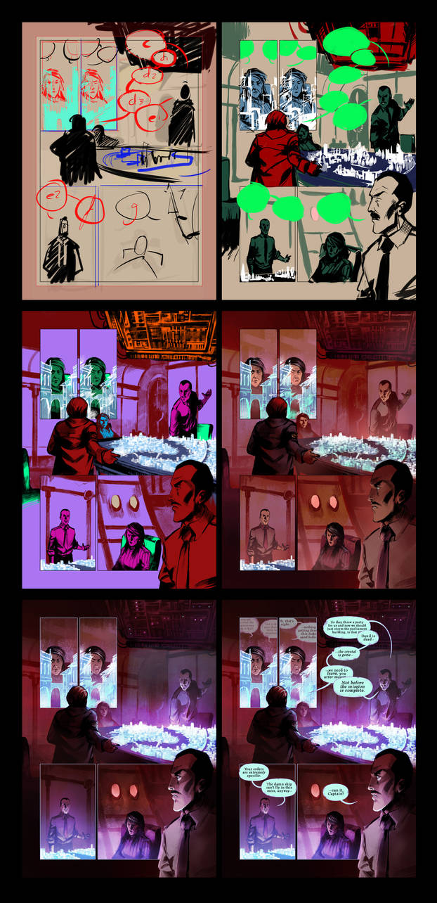 Red Moon Rising page process