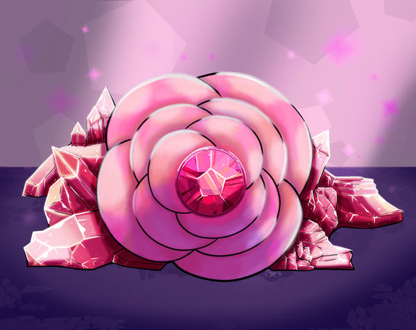 "I got inspired to make this from the many screenshots I saw of Rose's Fountain from the episode ""An Indirect Kiss"" from Steven Universe. So, I made this to be some sort of memorial for Rose Quartz...."