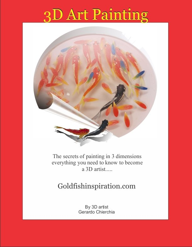 3d art painting in clear resin eBook tutorial by goldfishinspiration