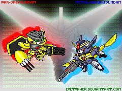 WarGrey + MetalGaruru Gundam by eyetypher