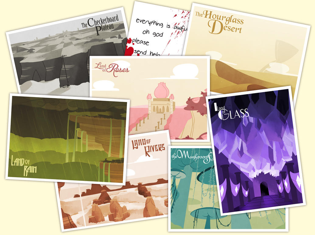 post cards by mintycanoodles