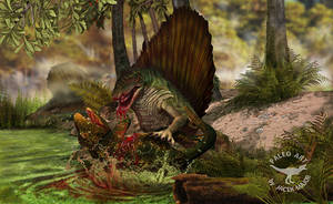 Dimetrodon the hunted eryops by A2812