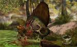 Dimetrodon the hunted eryops