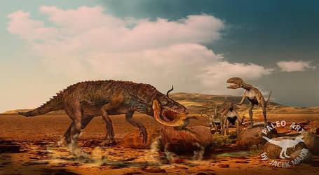 Smok with hunted Silesurus