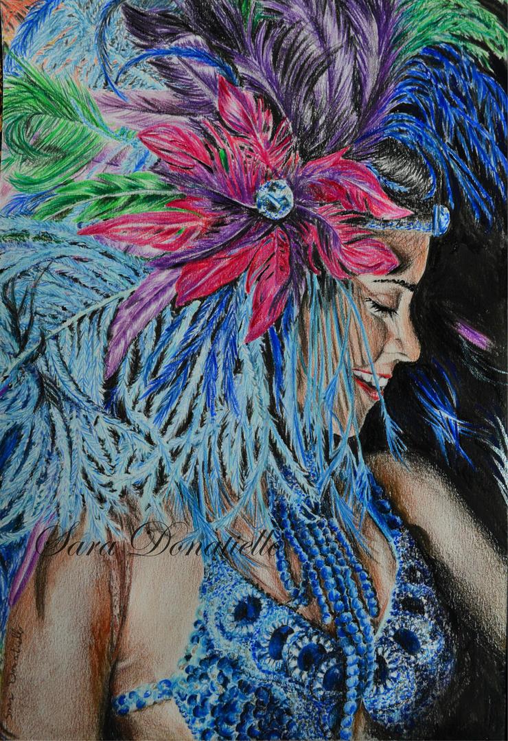 ritratto di una ballerina di samba by saraPortrait
