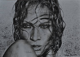 Jennifer Lopez by saraPortrait