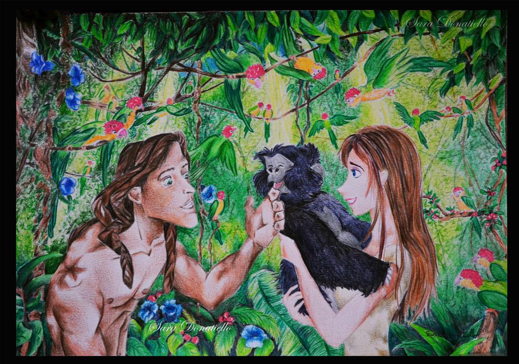 Tarzan e Jane by saraPortrait