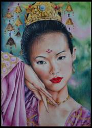 Xiao Mei by saraPortrait