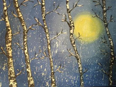 Winter Birch Trees by HugzieTV