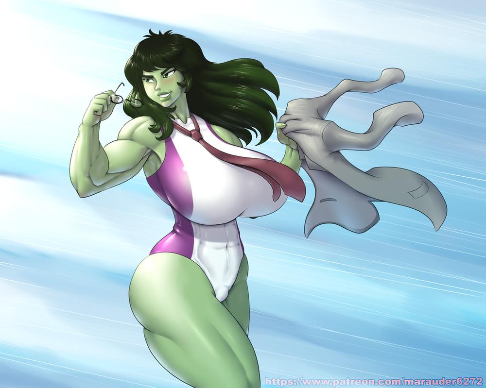 Superladies: She-Hulk by Marauder6272