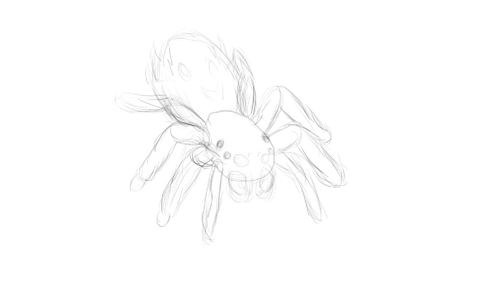 Spider 1st sketch by ShinVeyron