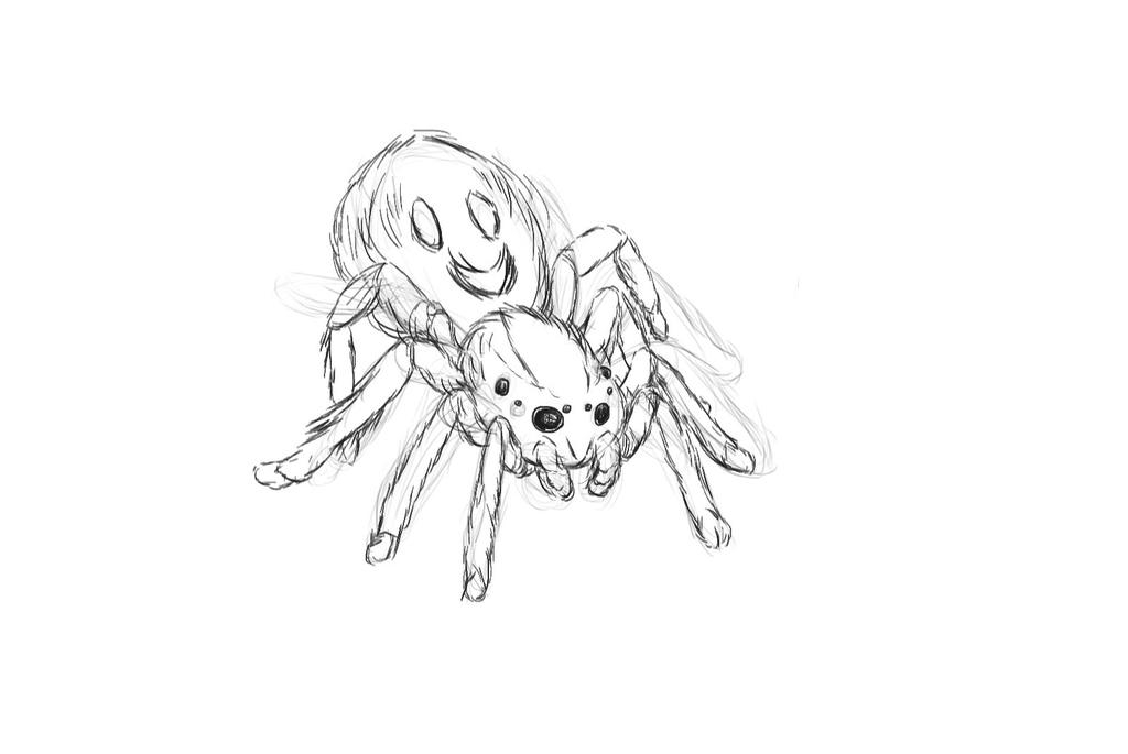 Spider 2nd sketch by ShinVeyron