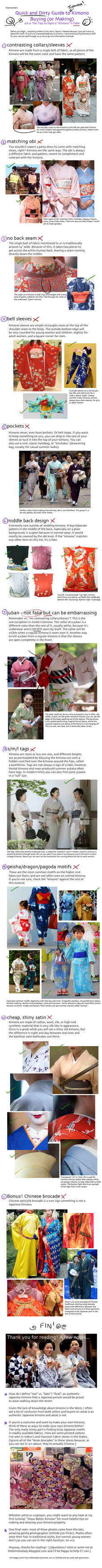 Tutorial: Real or Fake Kimono?