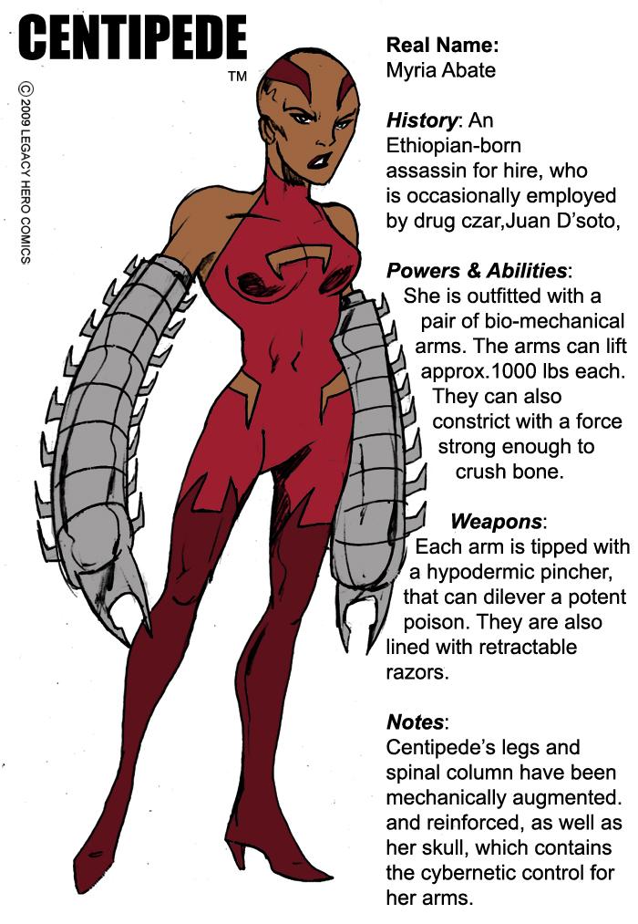 Centipede -bio by LegacyHeroComics