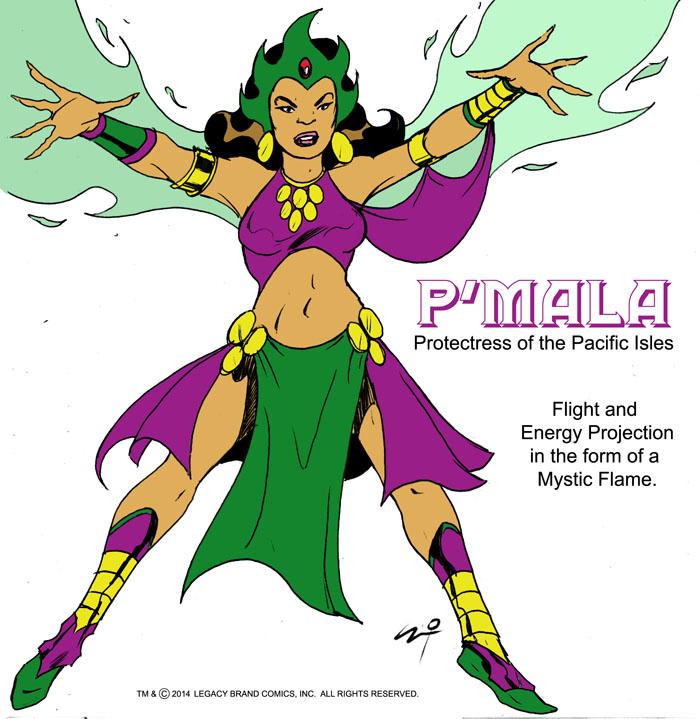 P'Mala -concept by LegacyHeroComics