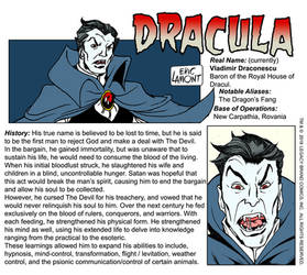 Dracula -origin / bio by LegacyHeroComics