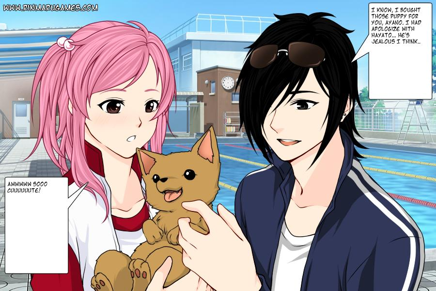 Daichi gave the puppy for Ayano with apologize by JeanUchiha18