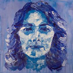 blue portrait by amandarrrr