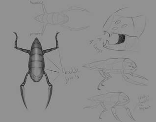 spitter creature concept art