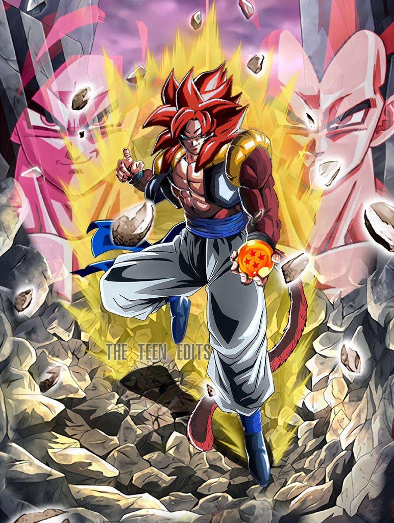 Fanmade Lr Ssj4 Gogeta Card Dbz Dokkan Battle By Princeofdragonballz