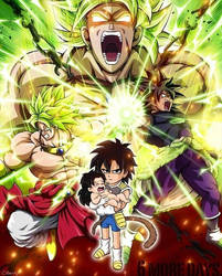 DBZ and DBS Broly Fusion by PrinceofDragonBallZ