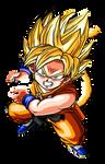 Super Saiyan Kid Goku (DB) DBZ BT3 Artwork